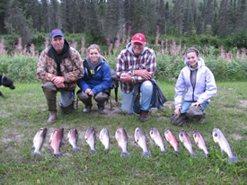 Lance, Tori, Lyle and Paige start off their fishing trip with a great day of fishing.